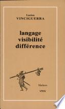 illustration du livre Langage, visibilité, différence