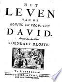 Het Leven Van De Koning En Propheet David