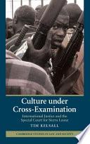 Culture under Cross Examination