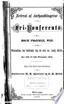 Referat af forhandlingerne i en fri conferents