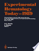 Experimental Hematology Today—1989