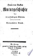Herrn von Buffons Naturgeschichte der vierfüßigen Thiere