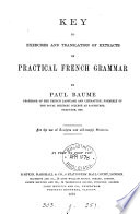 Practical French grammar and exercises  Key