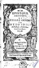 Epistole amorose di Cesare Orsino