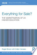 Everything for Sale  The Marketisation of UK Higher Education