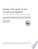 Geology of the Apollo 16 Area  Central Lunar Highlands