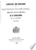Annaes do Senado do imperio do Brazil