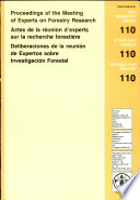 Actes de la R  union D Experts Sur la Recherche Foresti  re