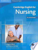 Cambridge English for Nursing Pre-intermediate Student's Book with Audio CD Free download PDF and Read online