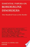Essential Papers on Borderline Disorders