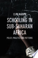 Schooling In Sub Saharan Africa