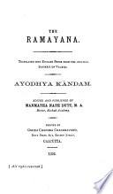 The Ramayana  Ayodhya k  ndam  1891