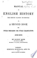 Manual of English History     Revised edition