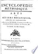 Encyclopedie methodique  ou par ordre de mati  res  Arts et m  tiers m  caniques