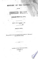 History of the Battle of the Crooked Billet, fought May 1st, 1778