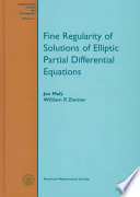 Fine Regularity of Solutions of Elliptic Partial Differential Equations