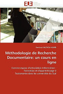 Méthodologie de Recherche Documentaire: un cours en ligne