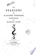 Le Stagioni di Giacomo Thomson recate in italiano da Michele Leoni