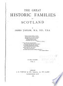 The Great Historic Families of Scotland Book PDF
