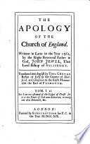 The Apology of the Church of England Book PDF
