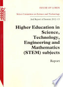 Higher education in science  technology  engineering and mathematics  STEM  subjects