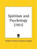 Spiritism and Psychology  1911