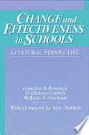 Change and Effectiveness in Schools