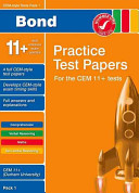 Bond Cem Style 11  Practice Test Papers 1   All Questions