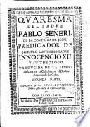 Quaresma del padre Pablo Señeri de la Compañia de Iesus ...