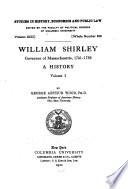 William Shirley  Governor of Massachusetts  1741 1756