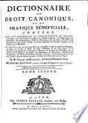 Dictionnaire de droit canonique et de pratique bénéficiale