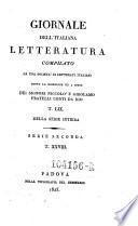 Giornale dell Italiana letteratura