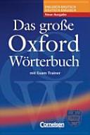 Das Gro E Oxford W Rterbuch
