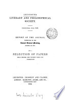 Report of the council     1855  and a selection of papers read before the society since its formation