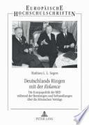 Deutschlands Ringen mit der Relance