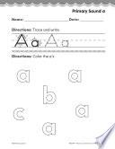 Pre Kindergarten Foundational Phonics Skills  Primary Sound a
