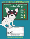 French Bulldog Cover Handwriting Practice Pages Primary Notebook Print   Cursive  Educational Activity Book with Dot Dash Midline on Paper Grade Schoo