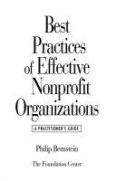 Best practices of effective nonprofit organizations