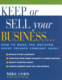 Keep Or Sell Your Business