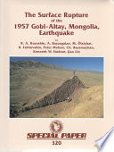 The Surface Rupture of the 1957 Gobi-Altay, Mongolia, Earthquake