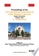 11th International Conference on Cyber Warfare and Security