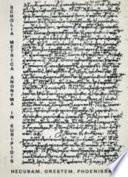 Scholia metrica anonyma in Euripidis Hecubam  Orestem  Phoenissas