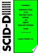 Interviewer S Guide To The Structured Clinical Interview For Dsm Iv Dissociative Disorders Scid D  book