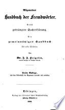 Allgemeines Handbuch der Fremdw  rter