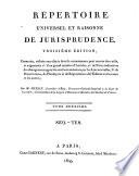 R  pertoire universel et raisonn   de jurisprudence