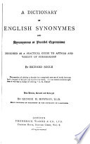A Dictionary Of English Synonymes And Synonymous