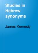 Studies in Hebrew Synonyms