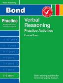 Bond Practice Verbal Reasoning Practice Activities 5-6 Years