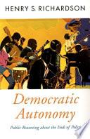 Democratic Autonomy