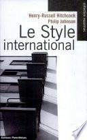 Le style international Of Modern Art De New York
